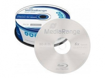 BluRay-R  MediaRange 50GB 6x 10Stk Spindel