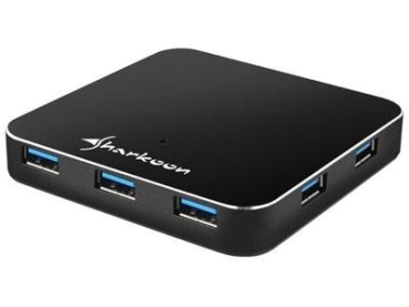 Hub USB3.0 Sharkoon 7-Port Aluminium Slim