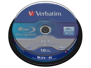 BluRay -R Verbatim 25GB 10Stk Spindel