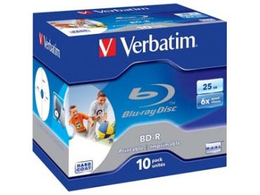 BluRay -R Verbatim 25GB 10Stk Case Print