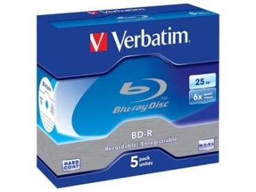 BluRay -R Verbatim 25GB 5Stk Case