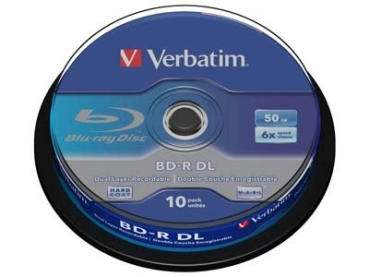 BluRay -R Verbatim 50GB 10Stk Spindel
