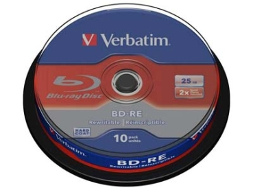 BluRay -RE Verbatim 25GB 10Stk Spindel